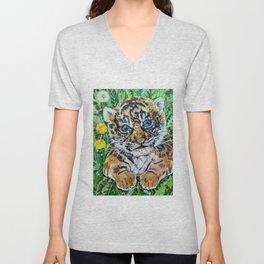 Siberian Tiger Cub Unisex V-Neck