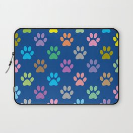 Colorful paw prints pattern Laptop Sleeve