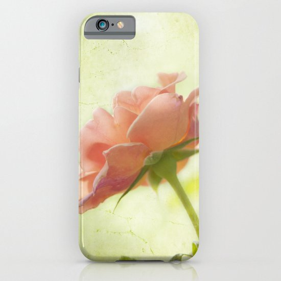 Vintage light pink rose iPhone & iPod Case