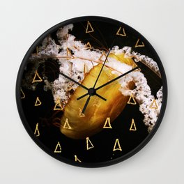 Golden Burn (nautic animal, nature photography) Wall Clock