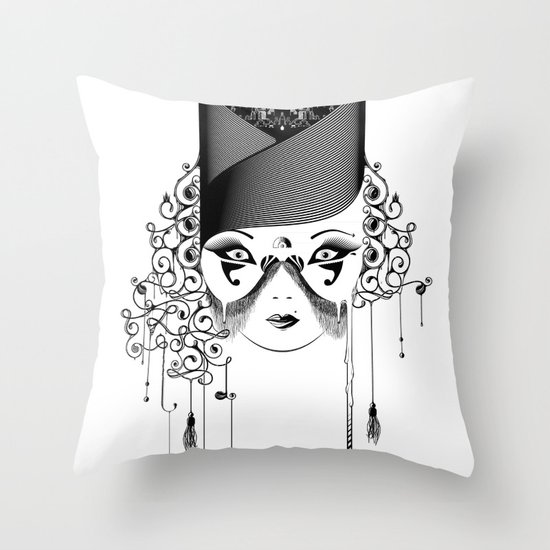 Maskjesty Throw Pillow