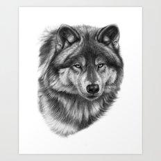 Canis Lupus SK0105 Art Print