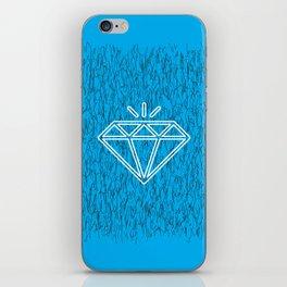 diamond cyan iPhone Skin
