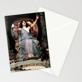 """John William Waterhouse """"Circe Offering the Cup to Odysseus"""" Stationery Cards"""