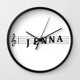 Name Jenna Wall Clock