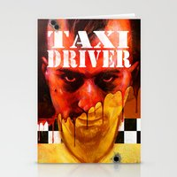 taxi driver Stationery Cards featuring Taxi Driver by ChrisNygaard