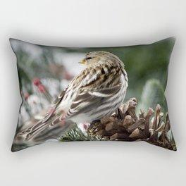 Common Redpoll Rectangular Pillow