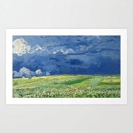 Vincent van Gogh - Wheatfield under Thunderclouds Art Print