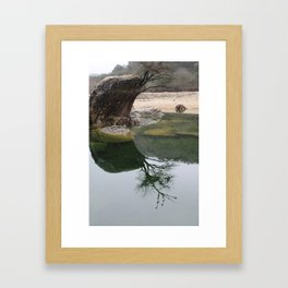 Reflections in Concan Framed Art Print