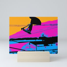 Tail Grabbing High Flying Scooter Mini Art Print