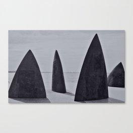 Shark sculpture Canvas Print
