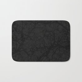 Dark Black Hunting Camo Pattern Bath Mat