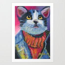 80's Cat Art Print