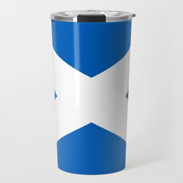 National flag of Scotland - Authentic version to scale and color Travel Mug