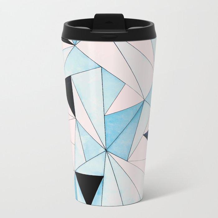 Geometric Washout #society6 #decor #buyart Metal Travel Mug