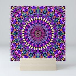 Bohemian Blossom Mandala Mini Art Print
