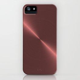 Metalic Pink Rose Gold Machined Metal iPhone Case