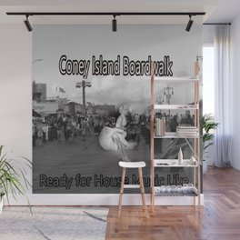 Ready to Dance on the Boardwalk of Coney Island House Music Wall Mural