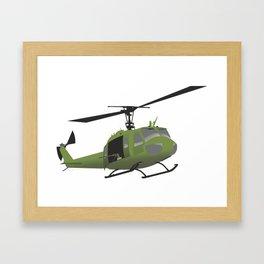 UH-1 Huey Helicopter Framed Art Print