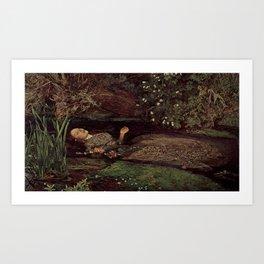 John Everett Millais, Ofelia Art Print