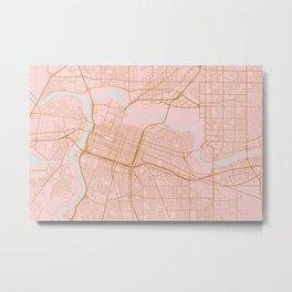 Sacramento map, California Metal Print