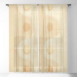 Yin yang balance moon and sun 1 texture Sheer Curtain