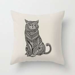 Polynesian British Shorthair cat Throw Pillow