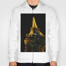 Eiffel Tower lit up at night, Paris Hoody