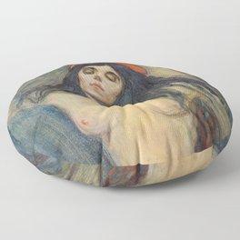 Madonna by Edvard Munch Floor Pillow