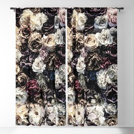 Flower Wall // Desaturated Vintage Floral Accent Background Jaw Dropping Decoration Blackout Curtain