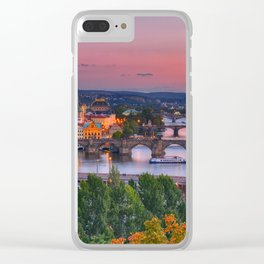 Charles bridge, Karluv most and Lesser town tower Clear iPhone Case