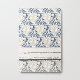 Indonesian batik print Metal Print