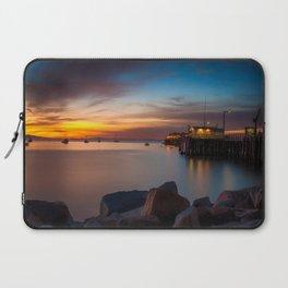 Here she comes again the sun rising at Port San Luis vila Beach Laptop Sleeve