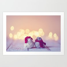 Happy Holidays, Christmas and Winter Photography Art Print