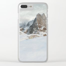Mountain Range in Winter Clear iPhone Case