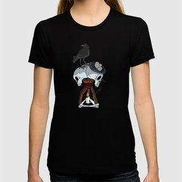 Skull hex Crow video game T-shirt