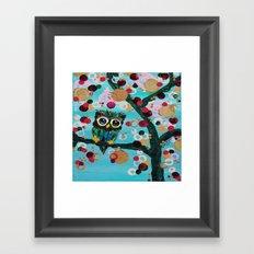 :: Gemmy Owl Loves Jewel Trees :: Framed Art Print
