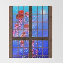Window Jelly 1 Throw Blanket