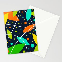 Leaf Pop Art Stationery Cards