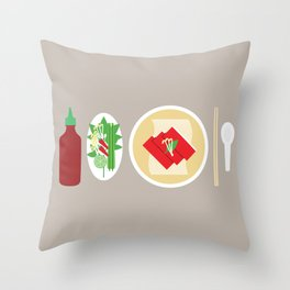 Sriracha Meal Throw Pillow