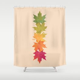 Falling Maple Shower Curtain