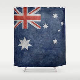 The National flag of Australia, Vintage version Shower Curtain
