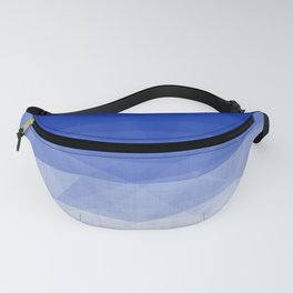 Imperial Lapis Lazuli - Triangles Minimalism Geometry Fanny Pack