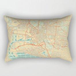 Melbourne Map Retro Rectangular Pillow