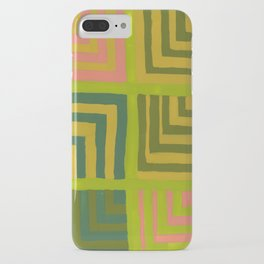 Painted Color Block Squares iPhone Case