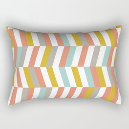Yellow, Red, Grey and Blue | Geometric Pattern Rectangular Pillow
