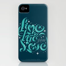 Live the life you love iPhone (4, 4s) Slim Case