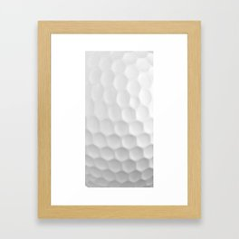 Golf Ball Dimples Framed Art Print