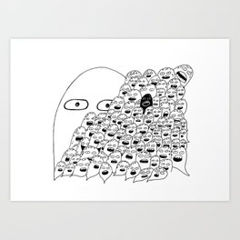 The Lonely Hearts  Art Print