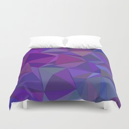 Chaotic purple tiles Duvet Cover